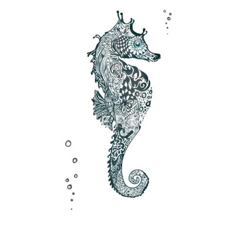 Illustrazione Del Tatuaggio Della Mandala Del Cavalluccio Marino