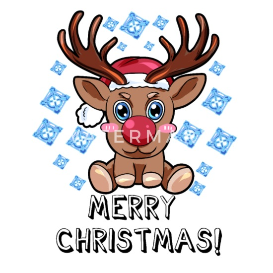 Comic Frohe Weihnachten.Frohe Weihnachten Rudolf Rentier Rote Nase Comic Buttons Klein 25 Mm 5er Pack Weiß