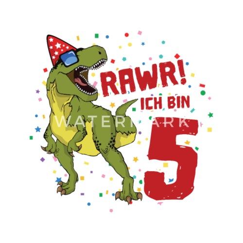 5 Geburtstag Dinosaurier Geburtstags Geschenk Buttons Klein
