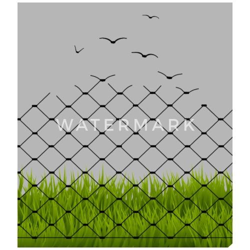 Illusion Maschendrahtzaun Und Vogel Zaun Buttons Klein Spreadshirt