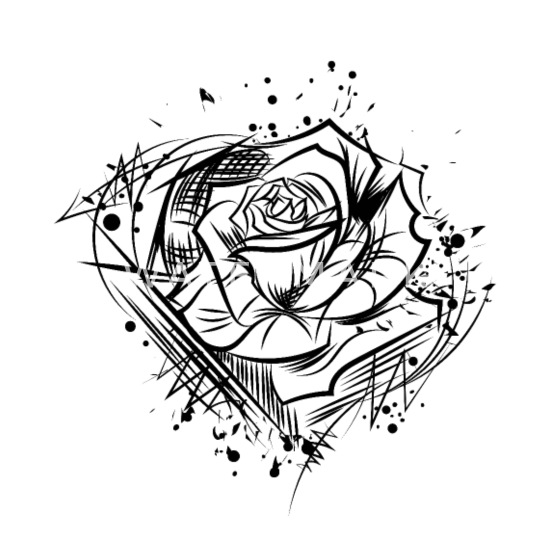 Rose Dessin Nature Cool Tattoo Idea Petits Badges Spreadshirt