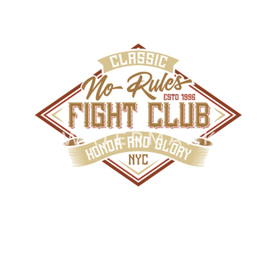 Classic no rules  Fight Club  Honor and glory Buttons small 1''/25 mm  (5-pack) - white