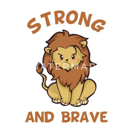 Dessin Animé Lion Cat Chibi Kawaii Joli Cadeau Lot De 5 Petits Badges 25 Mm Blanc