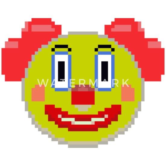 Carnaval Clown Pixel Art Lot De 5 Petits Badges 25 Mm Blanc