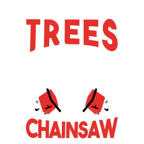 LoggerGift I klem trær med motorsag Ryggsekk | Spreadshirt