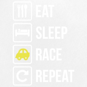 Eat Sleep Race Sport Répétition voiture - Badge petit 25 mm