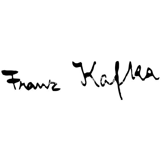 Franz Kafka Unterschrift Frauen Schwangerschafts T Shirt Weiß