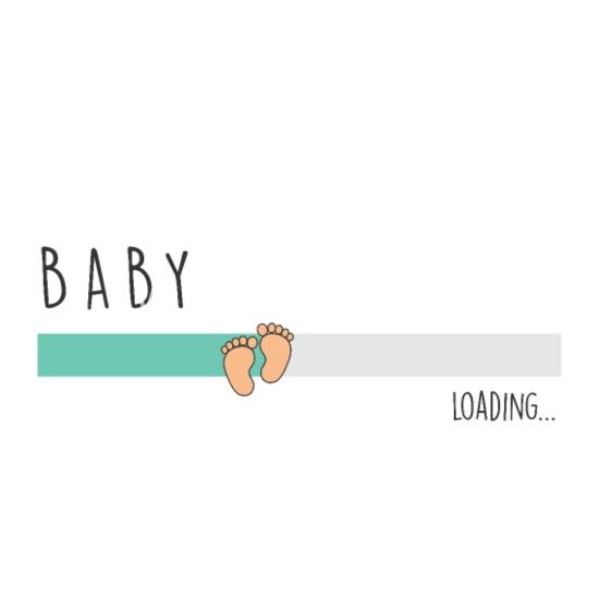 Babyloading Cadeau Voor Aanstaande Moeder Vrouwen Zwangerschap T Shirt Wit