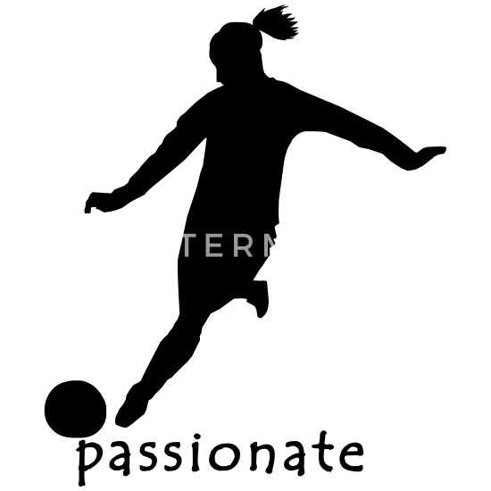 Frauen Fussball Grafik Frauen Schwangerschafts T Shirt Weiss