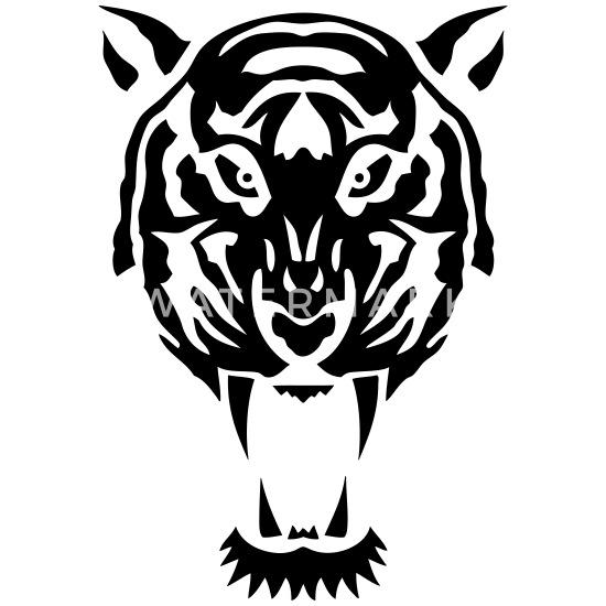 Tygrys Dzikie Zwierzę Plemienne 1106 Koszulka Ciążowa Biały