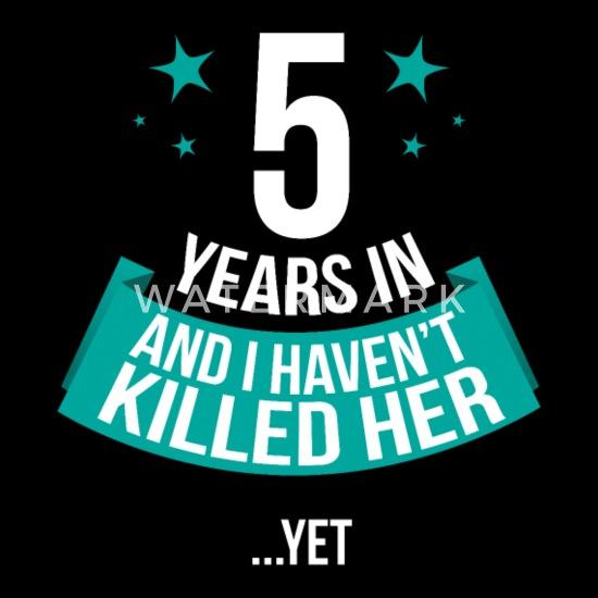 5 Jahre Verheiratet Hochzeitstag Jubiläum Geschenk Frauen Schwangerschafts T Shirt Schwarz