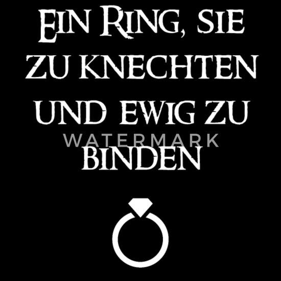 Ein Ring Sie Zu Knechten Und Ewig Zu Binden Frauen Schwangerschafts T Shirt Schwarz