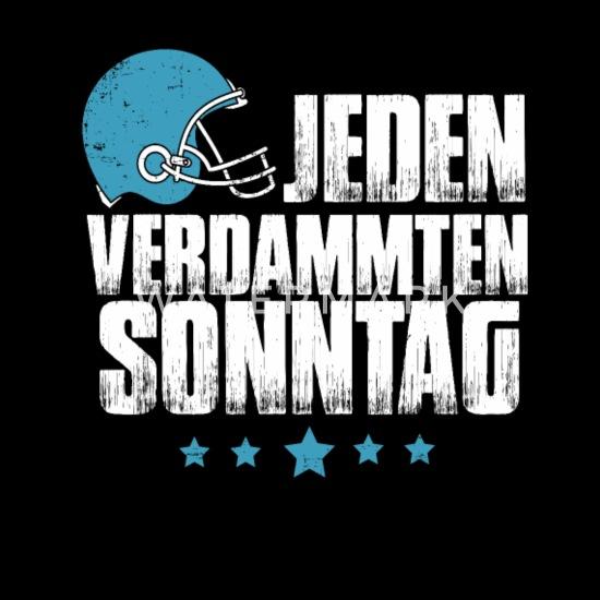 Football Jeden Verdammten Sonntag Frauen Schwangerschafts T Shirt Schwarz