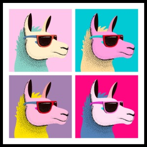 Pop Art Llama With Sunglasses
