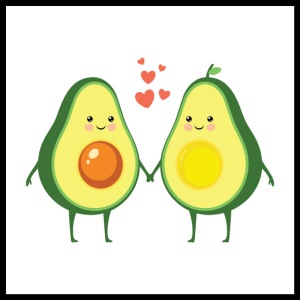 Avocado Love Couple