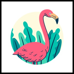 Retro flamingo design