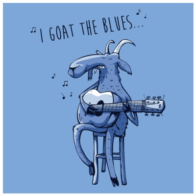 I goat the blues affiche