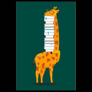Giraffe With Books