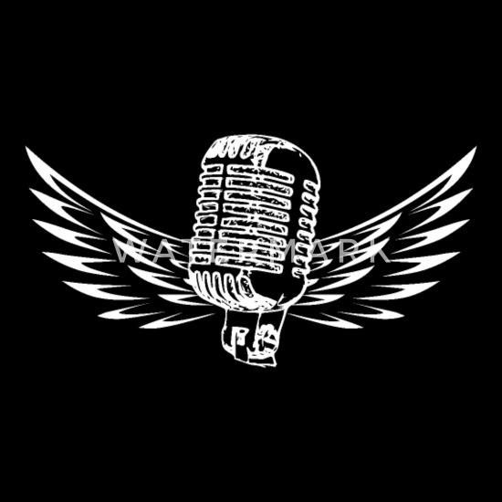 Old school mikrofon hvit Klassisk T skjorte med V hals for