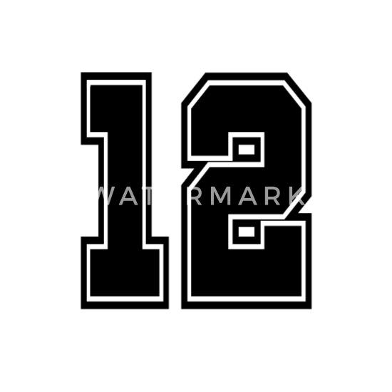 12 skjorte nummer college stil fotball fotball nummer