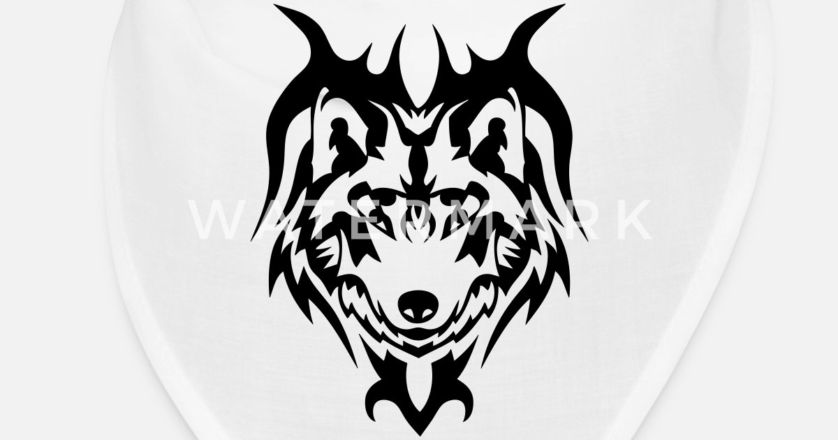 Loup Tatouage Tribal Animal Sauvage Bandana Spreadshirt