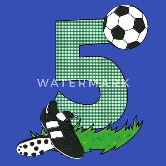 Geburtstag 5 Jahre Fussball Fussballspieler Schürze Spreadshirt
