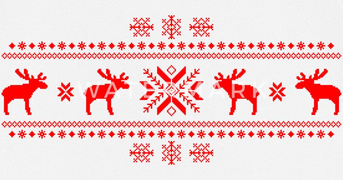 elche Elch Rentier Hirsch Weihnachten Norweger Strick Muster Rudolf ...