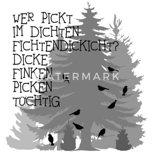 Finken Fink Zungenbrecher Spruch Sprüche Wald Bäume Baum