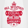 january women equal best born month logo - Cooking Apron