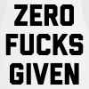 Zero F*cks Given Funny Quote - Cooking Apron