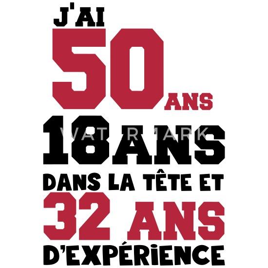 J Ai 50 Ans Anniversaire Citation Message Tablier Spreadshirt