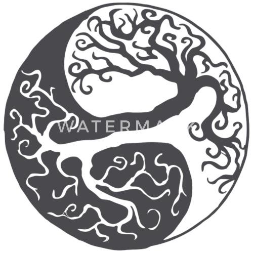 Yin Yang Baum Des Lebens Geschenk Schürze Spreadshirt