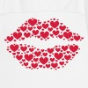 Kiss, lips, hearts, Valentines Day, Love, Kissing - Cooking Apron