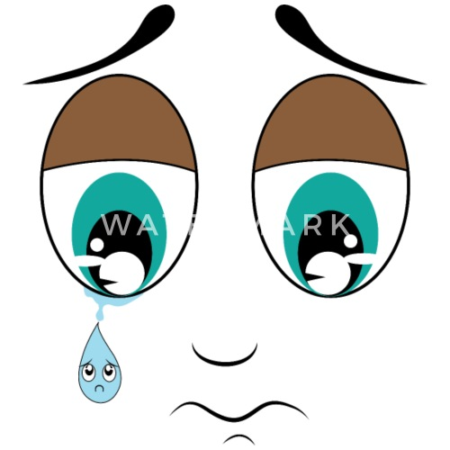 Trauriges Gesicht Und Traurige Trane Schurze Spreadshirt