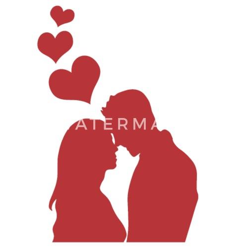 Couple Parchen Liebe Valentinstag Herz Geschenk Schurze Spreadshirt