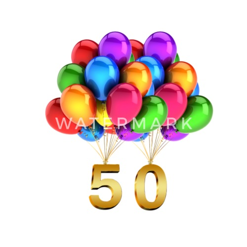 Gift Idea For The 50th Birthday Balloons By