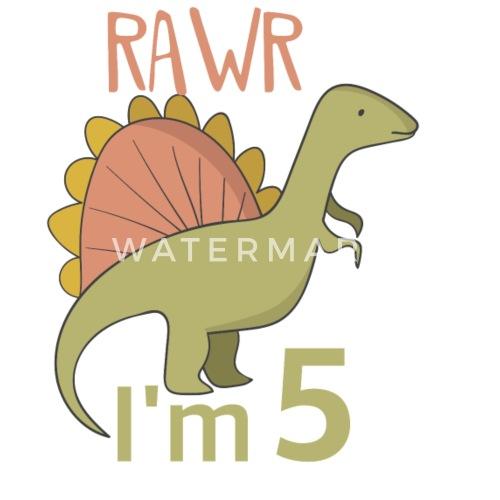 Zum 5 Geburtstag Für Jungs Mädchen Spinosaurus Schürze Spreadshirt