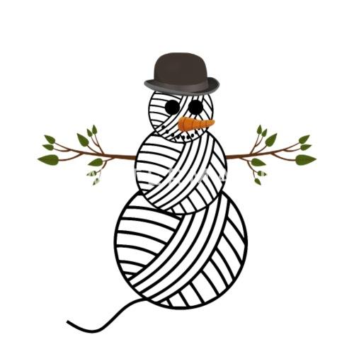 Häkeln Stricken Wollknäuel Schneemann Weihnachten Kochschürze Weiß