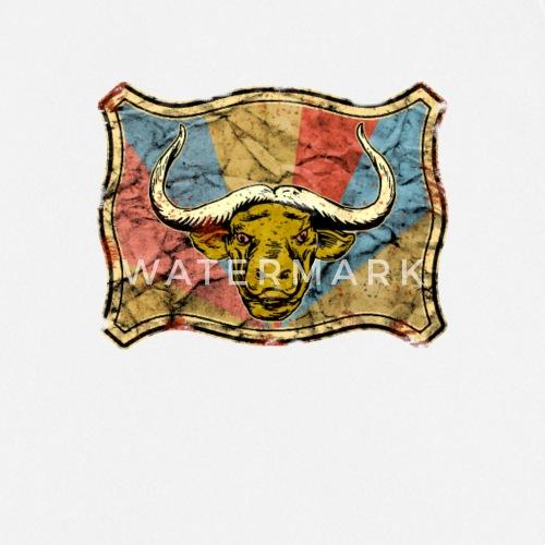 Wasserbüffel im Vintage Design - Büffelkopf von picunique   Spreadshirt