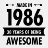 Made In 1986 . 30 Years Of Being Awesome - Keukenschort