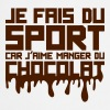 aime manger chocolat citation sport  - Tablier de cuisine