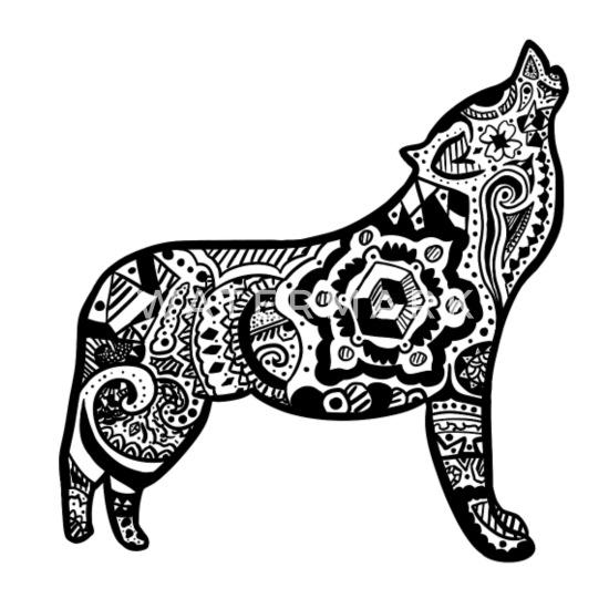 Wolf Stilisierte Version Von Mandalas Schürze Spreadshirt