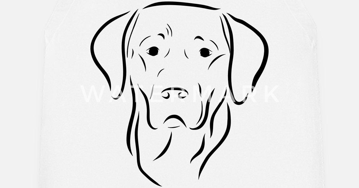 Labrador Dog Head Drawing Dog Dog Love Art Apron Spreadshirt