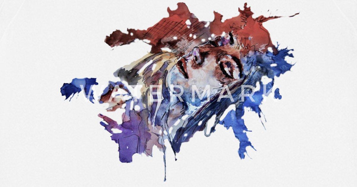 Schlafende Frau Farbcklecks Abstrakte Kunst Art Schurze Spreadshirt
