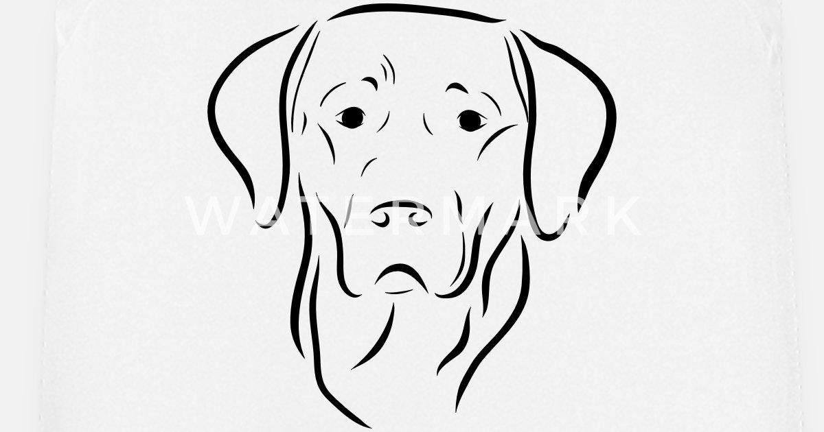Labrador Chien Tête Dessin Chien Chien Amour Art Tablier Spreadshirt