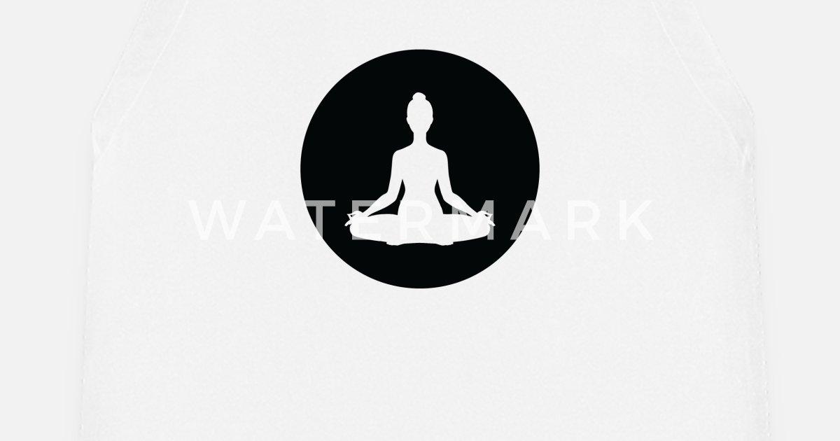 Yoga Méditation Citation Cadeau Cadeau Anniversaire Tablier Spreadshirt