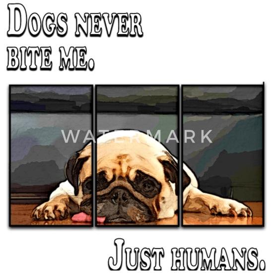 Hund Mops Dog Pug Cool Quote Sprüche Schürze Spreadshirt
