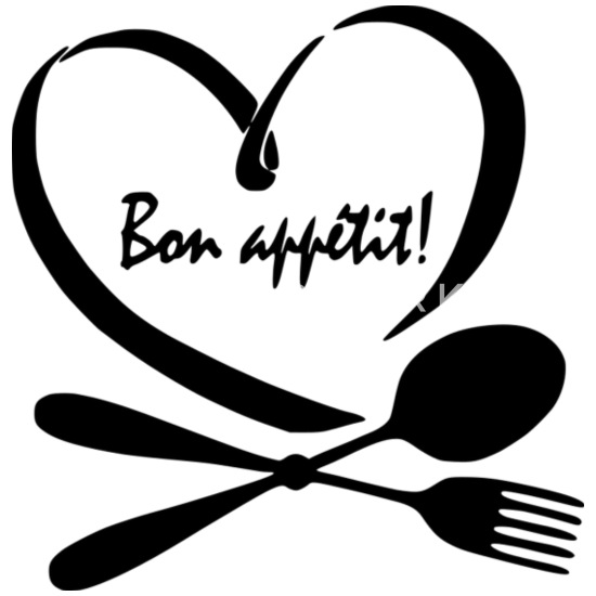 Coeur avec bon appétit! Tablier | Spreadshirt