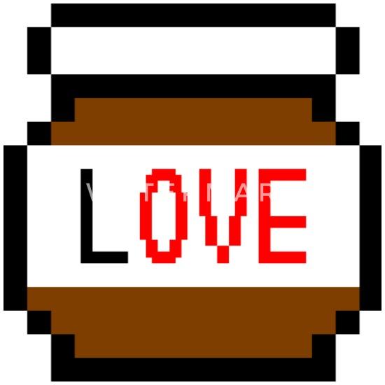 Idée De Cadeau Damour De Pixel De Chocolat Nourriture