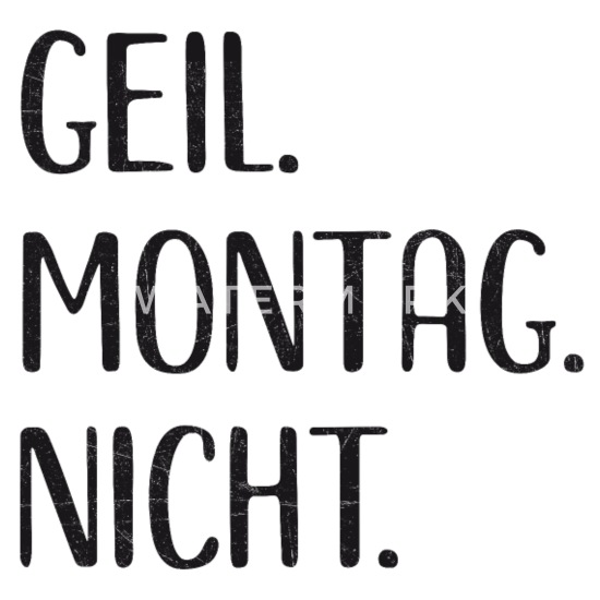 Lustiges Montag Wochentag Sprüche Fun Geschenk Schürze
